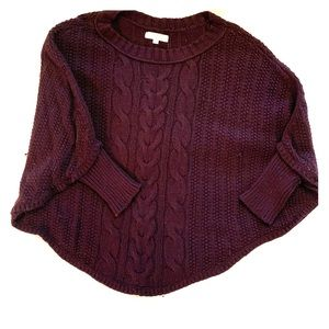 Ann Taylor Loft sweater poncho with sleeves